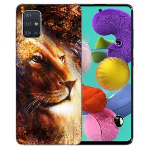 Samsung Galaxy Note 10 lite TPU Hülle mit LöwenKopf Porträt Bilddruck