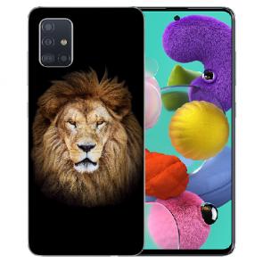 Samsung Galaxy Note 10 lite Schutzhülle Silikon TPU mit Löwe Bilddruck