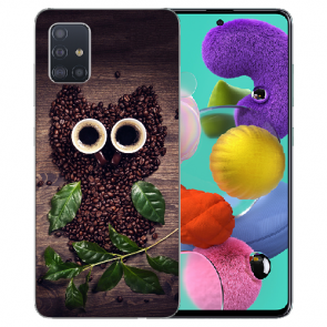 Samsung Galaxy Note 10 lite Silikon TPU Hülle mit Kaffee Eule Bilddruck