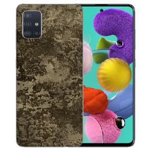 Silikon TPU Hülle mit Muster Fotodruck für Samsung Galaxy A51 Etui