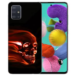 Samsung Galaxy A31 Silikon Handy Hülle mit Bilddruck Totenschädel