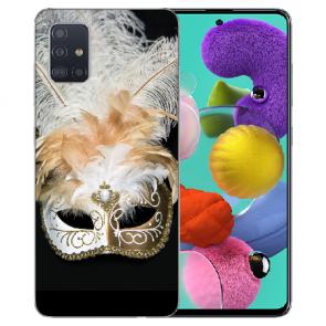 Samsung Galaxy A31 Silikon Handyhülle mit Bilddruck Venedig Maske