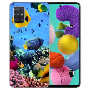 Samsung Galaxy Note 10 lite Silikon TPU Hülle mit Korallenfische Bilddruck