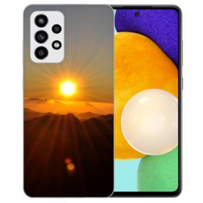 Silikon Hülle mit Bilddruck Sonnenaufgang für Samsung Galaxy A52 5G