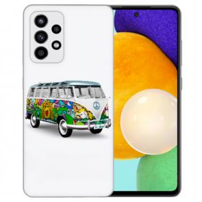Silikon Hülle mit Bilddruck Hippie Bus für Samsung Galaxy A52 5G