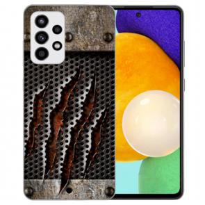 Silikon Hülle mit Bilddruck Monster-Kralle für Samsung Galaxy A52 5G