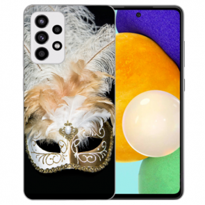 Samsung Galaxy A52 5G TPU Silikon Hülle mit Bilddruck Venedig Maske
