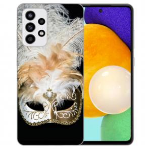 Samsung Galaxy A32 5G Silikon Hülle TPU Case mit Fotodruck Venedig Maske