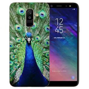 Silikon TPU Hülle mit Pfau Bilddruck für Samsung Galaxy J6 (2018)