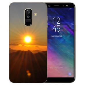 TPU Hülle mit Bilddruck Sonnenaufgang für Samsung Galaxy A6 Plus 2018