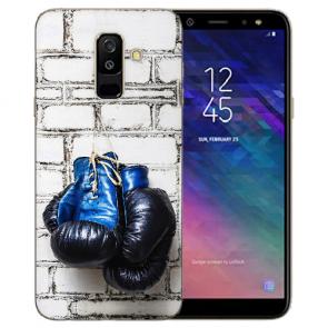 Samsung Galaxy J6 (2018) Silikon TPU Hülle mit Boxhandschuhe Fotodruck