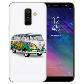 TPU Hülle mit Bilddruck Hippie Bus für Samsung Galaxy A6 Plus 2018