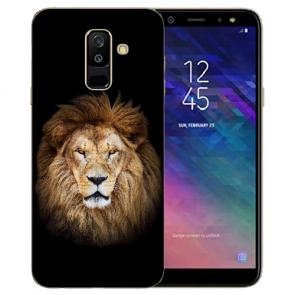 Samsung Galaxy J6 (2018) Silikon TPU Hülle mit Löwenkopf Bilddruck