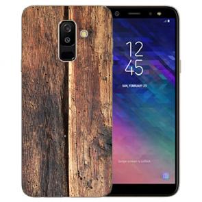 Samsung Galaxy A6 Plus 2018 TPU Hülle mit Bilddruck HolzOptik