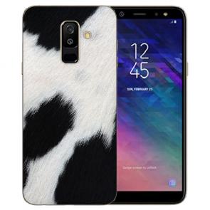 Samsung Galaxy J6 (2018) Silikon TPU Hülle mit Kuhmuster Fotodruck