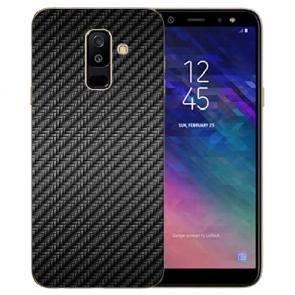 Samsung Galaxy J6 (2018) Silikon TPU Hülle mit Carbon Optik Bilddruck