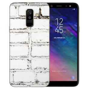 Samsung Galaxy A6 Plus 2018 TPU Hülle mit Bilddruck Weiße Mauer