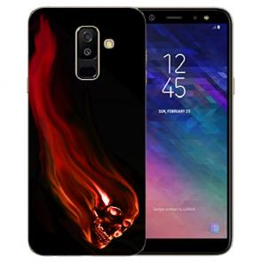 Samsung Galaxy A6 Plus 2018 TPU Hülle mit Bilddruck Totenschädel