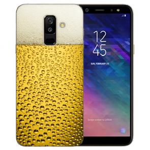 Samsung Galaxy J6 (2018) Silikon TPU Hülle mit Bier Foto Namendruck