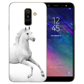 Samsung Galaxy J6 (2018) Silikon TPU Hülle mit Bilddruck Pferd