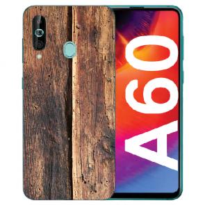 Silikon TPU Hülle mit Fotodruck HolzOptik für Samsung Galaxy A60