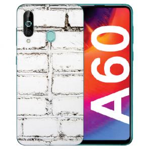 Samsung Galaxy A60 Silikon TPU Hülle mit Fotodruck Weiße Mauer Case