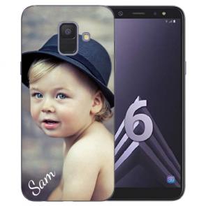 Samsung Galaxy A6 Silikon Schutzhülle TPU Case mit Foto Bilddruck