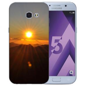 Samsung Galaxy A3 (2017) Silikon TPU Hülle mit Bilddruck Sonnenaufgang