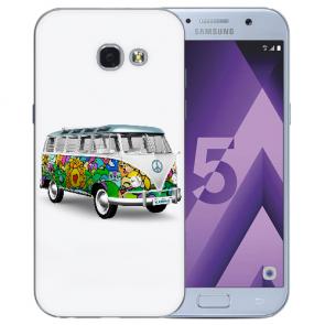 Samsung Galaxy A3 (2017) Silikon TPU Hülle mit Bilddruck Hippie Bus