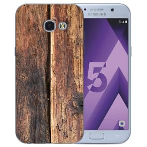 Samsung Galaxy A3 (2017) Silikon TPU Hülle mit Bilddruck HolzOptik