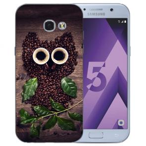 Samsung Galaxy A3 (2017) Silikon TPU Hülle mit Bilddruck Kaffee Eule