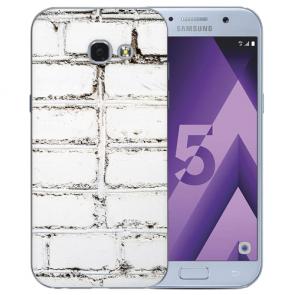 Samsung Galaxy A3 (2017) Silikon TPU Hülle mit Bilddruck Weiße Mauer