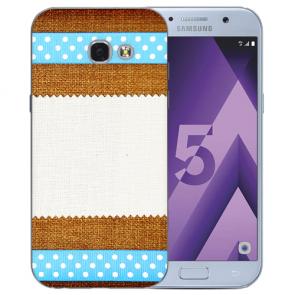 Samsung Galaxy A3 (2017) Silikon TPU Hülle mit Bilddruck Muster Etui