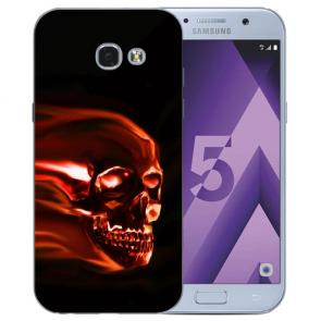 Samsung Galaxy A3 (2017) Silikon TPU Hülle mit Bilddruck Totenschädel