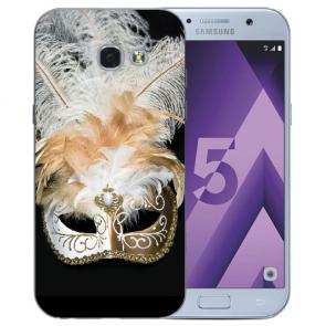 Samsung Galaxy A3 (2017) Silikon TPU Hülle mit Bilddruck Venedig Maske