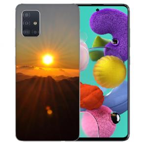 Silikon TPU mit Fotodruck Sonnenaufgang für Samsung Galaxy A71 Etui