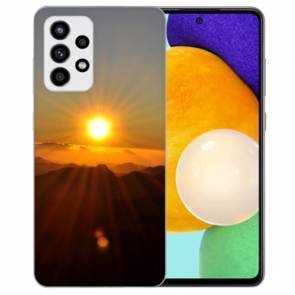 Samsung Galaxy A72 5G Silikon TPU Hülle mit Fotodruck Sonnenaufgang