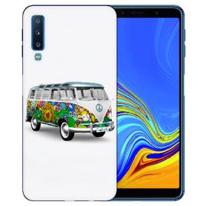 Samsung Galaxy A7 (2018) TPU Hülle mit Fotodruck Hippie Bus Etui