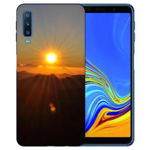 Samsung Galaxy A7 (2018) TPU Hülle mit Fotodruck Sonnenaufgang