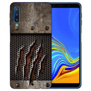 Samsung Galaxy A7 (2018) TPU Hülle mit Fotodruck Monster-Kralle Etui