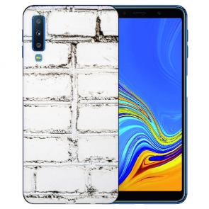Samsung Galaxy A7 (2018) Silikon TPU Hülle mit Fotodruck Weiße Mauer