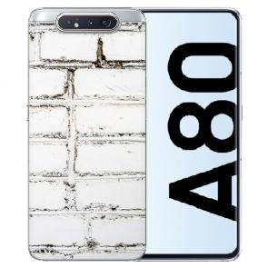 Samsung Galaxy A80 Silikon TPU mit Bilddruck Weiße Mauer