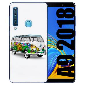 Samsung Galaxy A9 (2018) Silikon TPU Hülle mit Bilddruck Hippie Bus