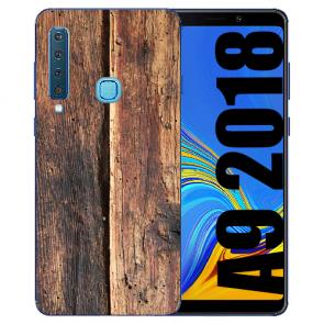 Samsung Galaxy A9 (2018) Silikon TPU Hülle mit Bilddruck HolzOptik