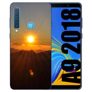 Samsung Galaxy A9 (2018) TPU Hülle mit Bilddruck Sonnenaufgang
