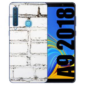Samsung Galaxy A9 (2018) Silikon TPU Hülle mit Bilddruck Weiße Mauer