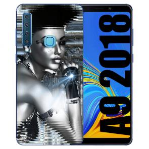 Samsung Galaxy A9 (2018) Silikon TPU Hülle mit Bilddruck Robot Girl