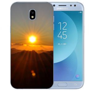 Samsung Galaxy J3 (2017) Silikon Hülle mit Fotodruck Sonnenaufgang