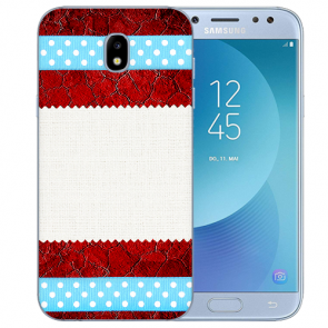 Samsung Galaxy J3 (2017) Silikon TPU Hülle mit Fotodruck Muster