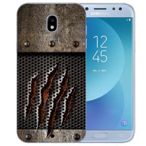 Samsung Galaxy J3 (2017) Silikon Hülle mit Fotodruck Monster-Kralle